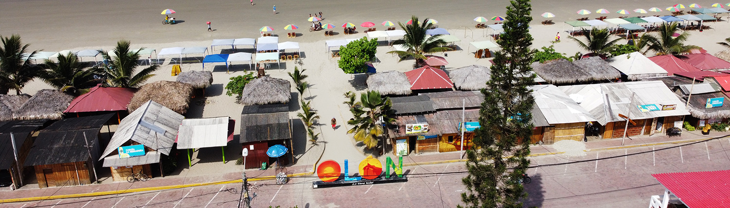 Olon Sign Beach Drone