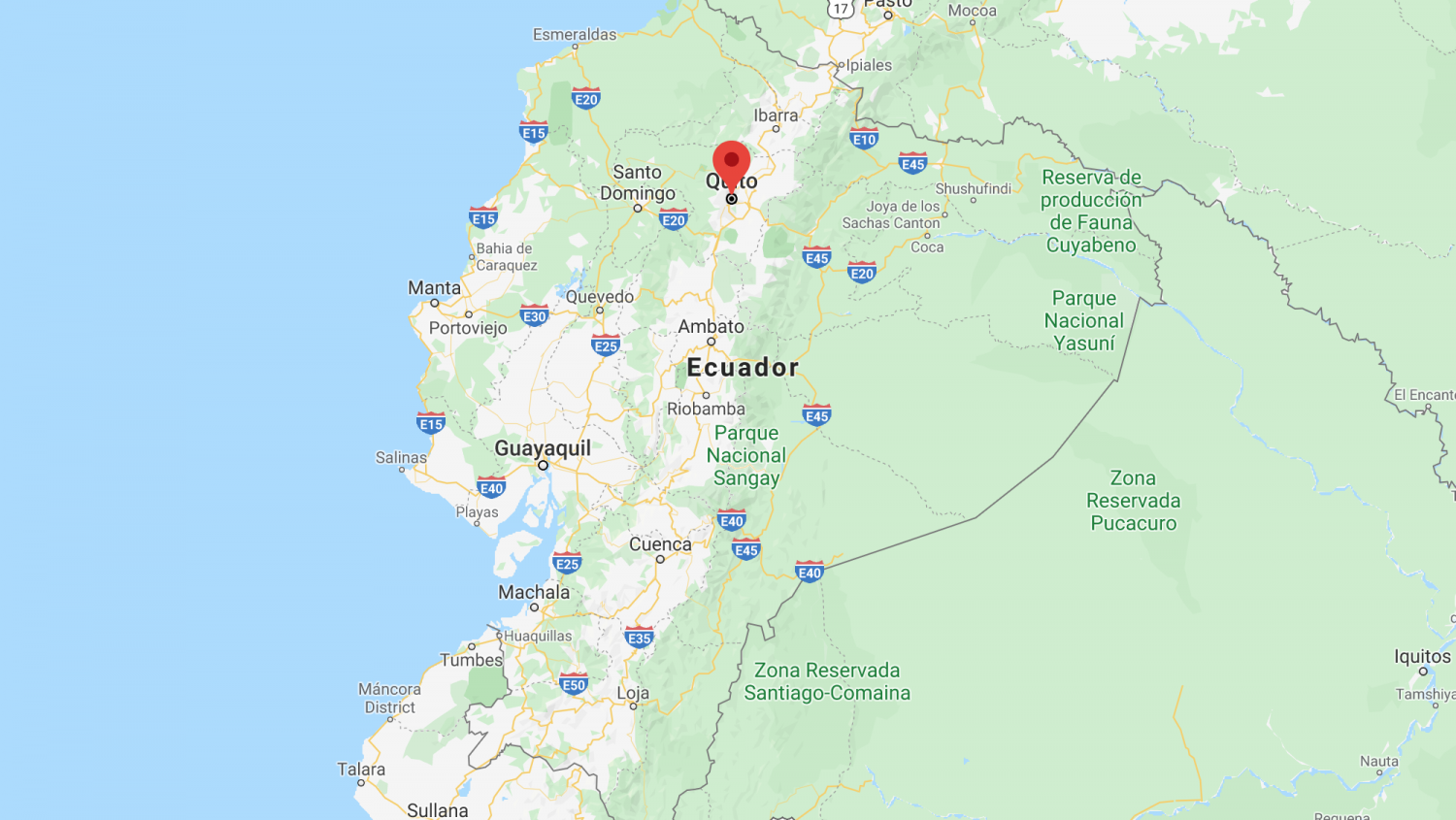 Quito Ecuador Map