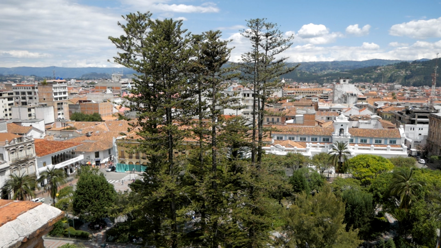 The New Cathedral Terrace Eastern View of Cuenca Ecuador