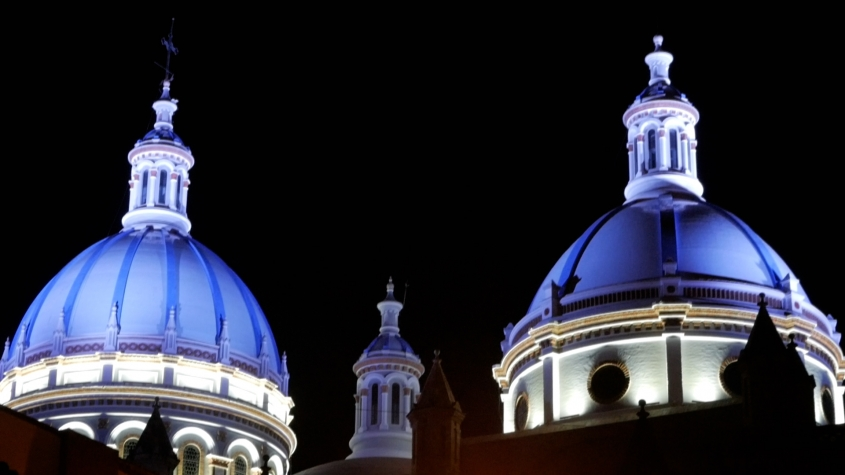 Cuenca New Cathedral Blue Domes