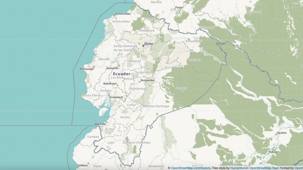 Ecuador Topographical Map